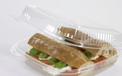 CaterPac™ food packaging Sandwich tray with domed lid - Plus Pack